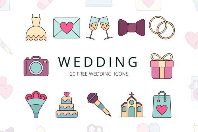 Free Wedding Vector Icon Set In 2020 Free Icon Set Wedding Icon Wedding Vector Icons