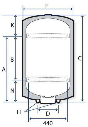 Chauffe-eau vertical blindé 200 L 230 V Mono Ø 560 mm