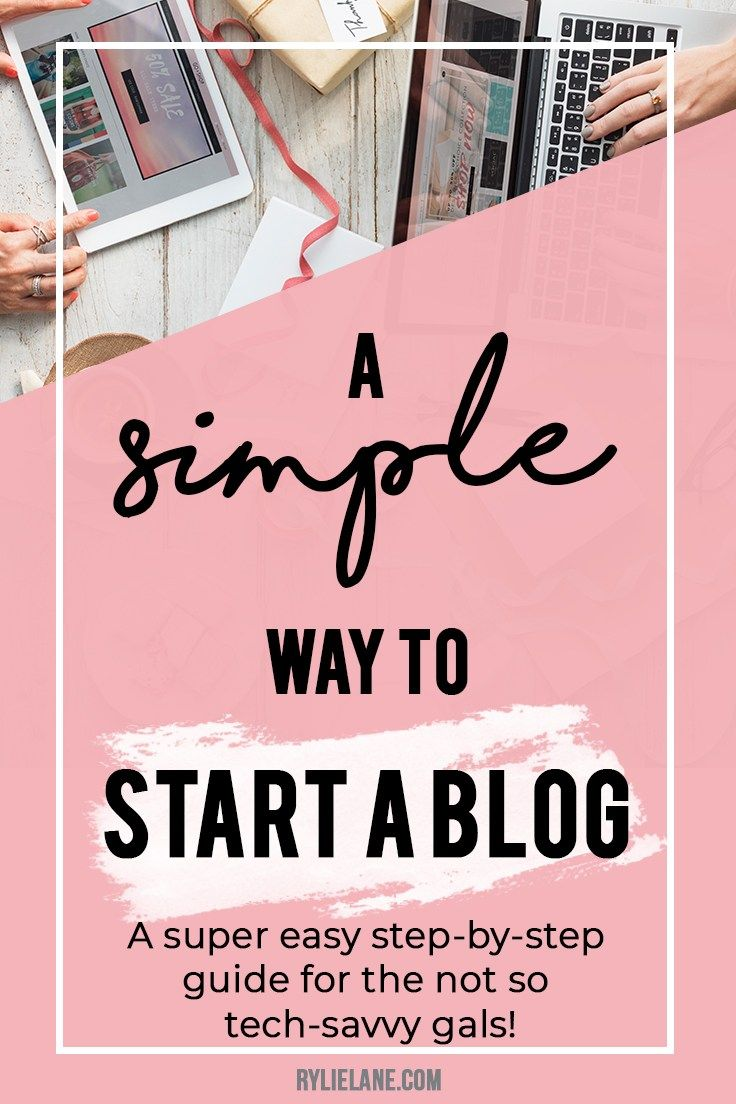 Want to start a blog but don't know how? Here is a super simple to start a blog even if you're not the best with technology! Click through to see how to start a blog!