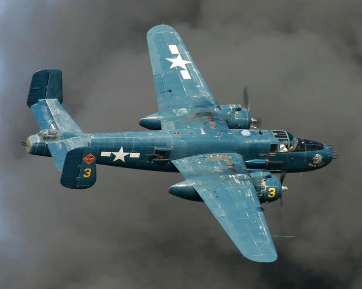 B-25, the same plane that Jimmy Doolittle used in his 1942 raid on Tokyo.