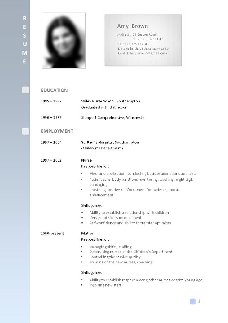 308 best resume examples images on Pinterest Resume templates - babysitting resume template