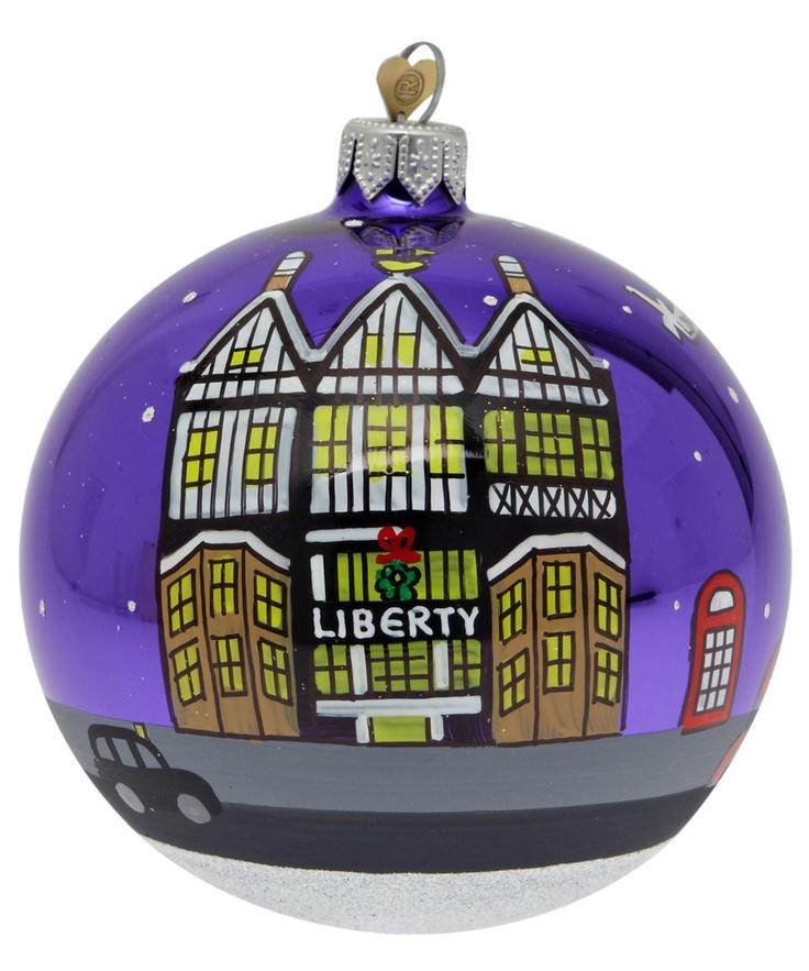 Liberty Tudor Building Christmas Tree Bauble.
