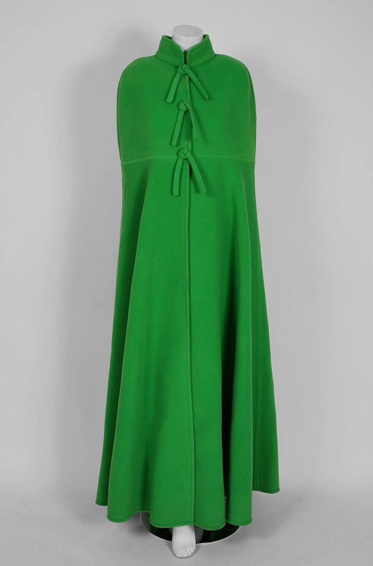 best ideas about green wool nuno felting wool 1971 christian dior haute couture green wool space age mod maxi cloak cape