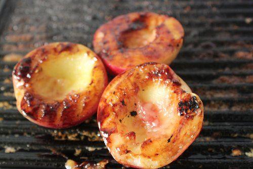 Honey and Balsamic Glazed Nectarines