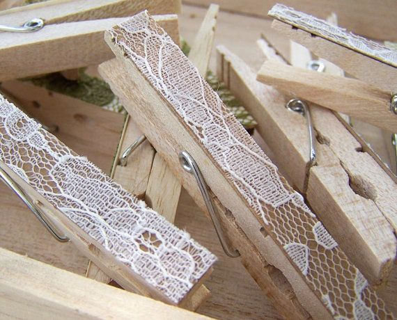lace clothes pins