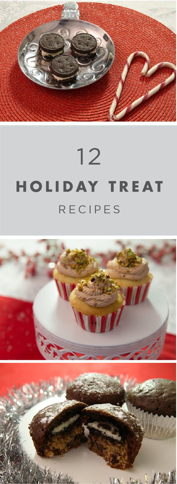 Try out these easy dessert recipes at your next holiday gathering. These candy cane stuffed peppermint bites are the perfect winter treat, and your guests will go crazy for these cannoli stuffed cupcakes. Impress your friends and family with these creative holiday treats.