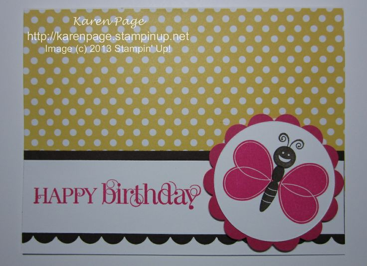 Stampin' Up!, Bug Me, Perfect Polka Dots, Children's Birthday