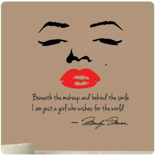 94 Best Marilyn Monroe Wall Decals Images On Pinterest | Wall Decal Quotes,  Wall Decals And Marilyn Monroe