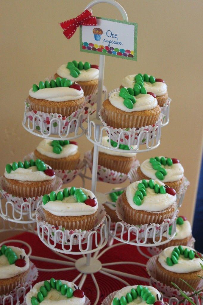 Hungry Caterpillar Cupcakes.