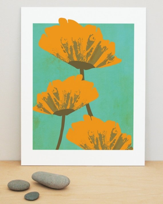 California Poppies art print by february13creative on Etsy, $25.00