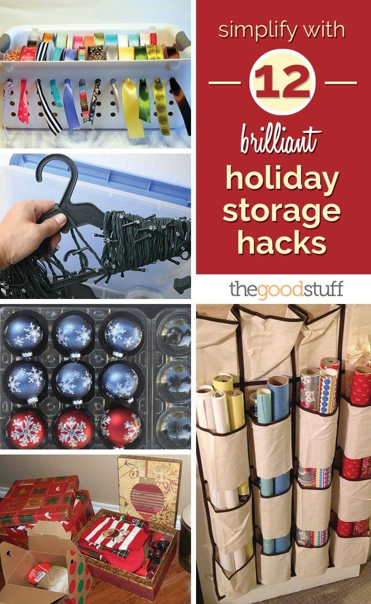 Simplify With 12 Brilliant Holiday Storage Hacks   thegoodstuff