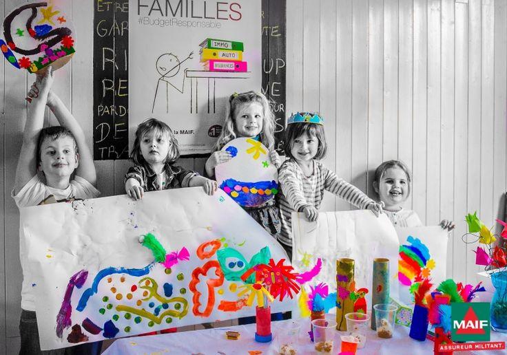 Le choix de la Maif se porte sur cette photo de Qwinny où les enfants sont fiers de montrer leurs créations !