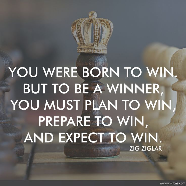 you were born to win