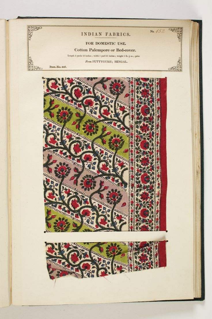 floral pattern on cotton from Fatehgarh, Uttar Pradesh, India, in The Textile Manufactures of India online database