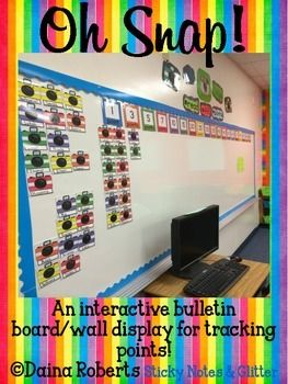 Oh Snap! {An Interactive Points Tracking Bulletin Board} - A GREAT visual for students when tracking AR points!