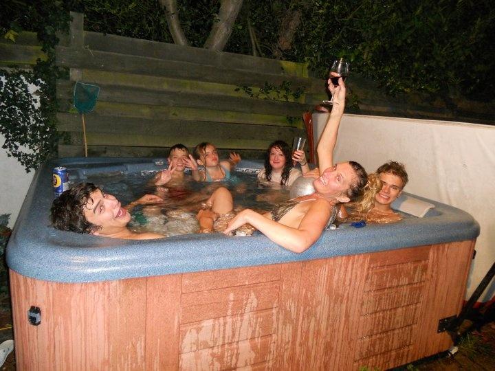 Clear Fun In A Hot Tub