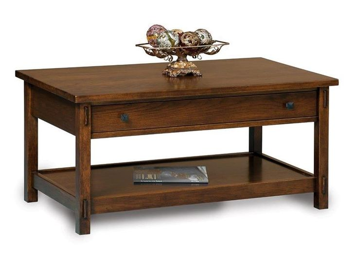 Amish Centennial Open Coffee Table With Drawer Drawers Accent Tables And Coffee