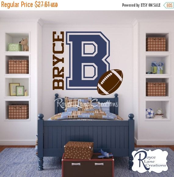 Varsity Letter Decal with Personalized Name by RoyceLaneCreations