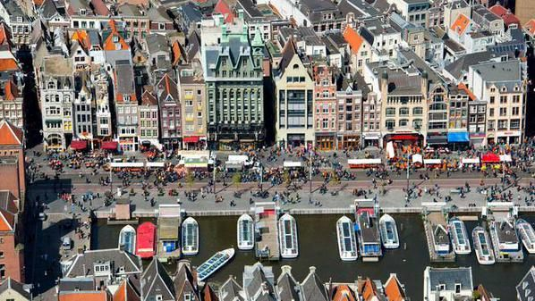 Amsterdam during Kingsday on April 27, 2015