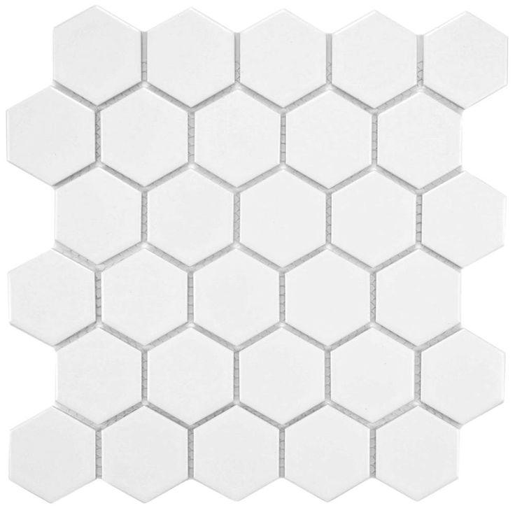 Fancy Merola Tile Metro Hex in Matte White in