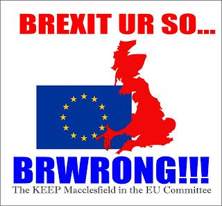 MACCLESFIELD UNVEILED!: Macclesfield says NO to BREXIT!!!