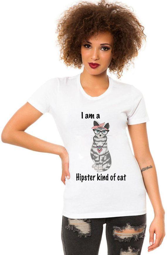I am a Hipster kind of cat t-shirt cat shirt kitty by BIGCITYMFG