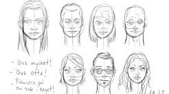 börja rita ansikten - YouTube