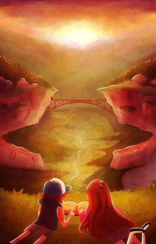 Gravity Falls Sunset