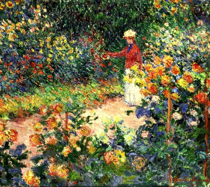 Claude Monet – Monet's Garden at Giverny – 1895 – Foundation E.G. Buehrle Collection: Monet Paintings, Gardens Paintings, Claude Monet, Oil On Canvas, Google Search, Wedding Colors, Claudemonet, Flower, Monet Gardens