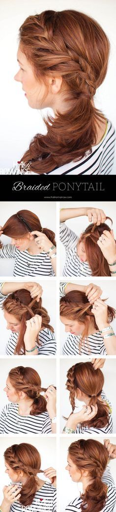Hair Romance - braided side ponytail hairstyle tutorial