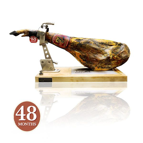 Se trata de un jamón ibérico de bellota excepcional, proveniente de cerdo ibérico http://7bellotas.com/ autóctono criado en libertad