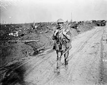 A Canadian soldier shortly before the Battle of Vimy Ridge.