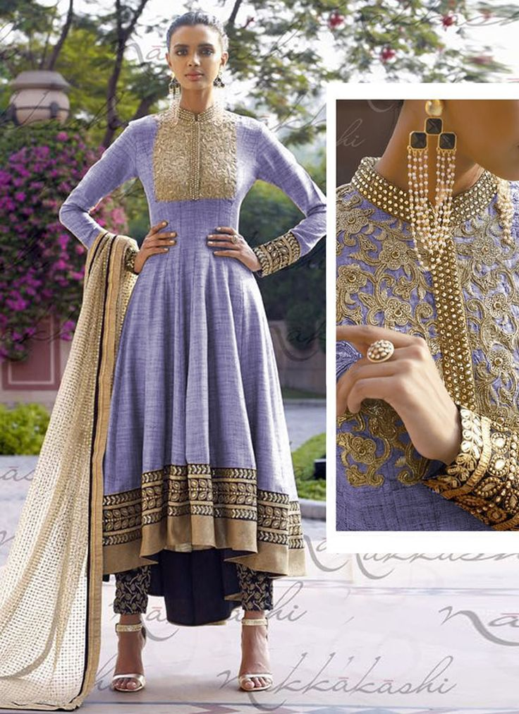 Delicate Purple Colored Designer Anarkali Suit & Dupatta