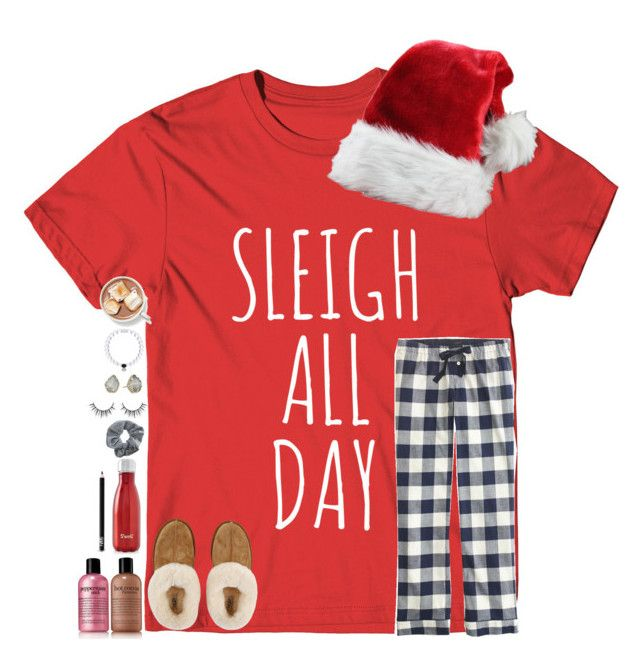 """""""Christmas Morning"""" by tortor7 ❤ liked on Polyvore featuring J.Crew, philosophy, Topshop, S'well, Kendra Scott, NARS Cosmetics and UGG"""