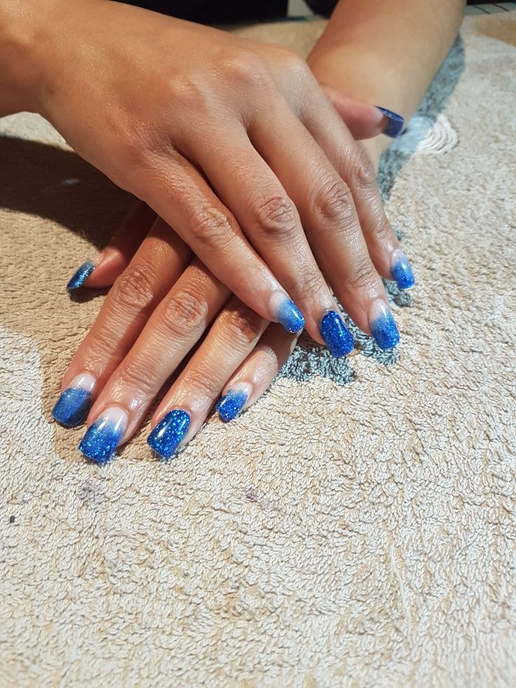 Electric Blue Acrylic Nails