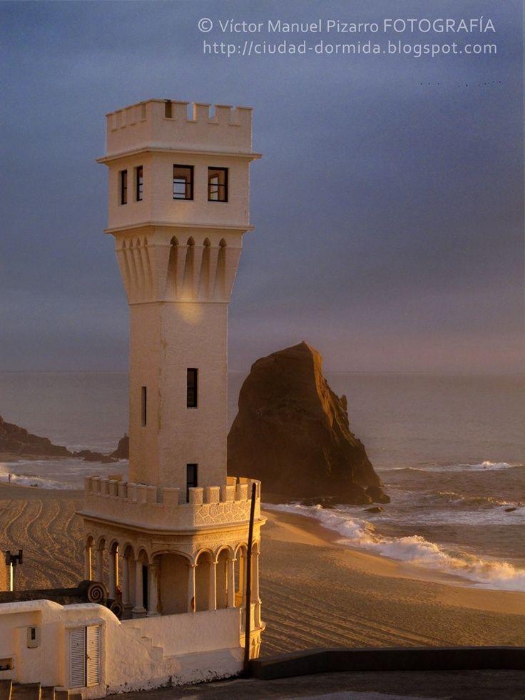 Lighthouse ~ Santa Cruz Beach, Portugal ~ Photography by Victor Manuel Pizarro