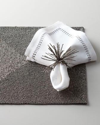 Folia Napkin Ring - eclectic - napkin rings - Crate