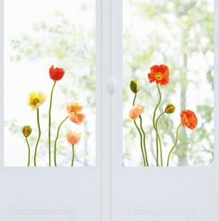 Poppy Decorative Window Decals