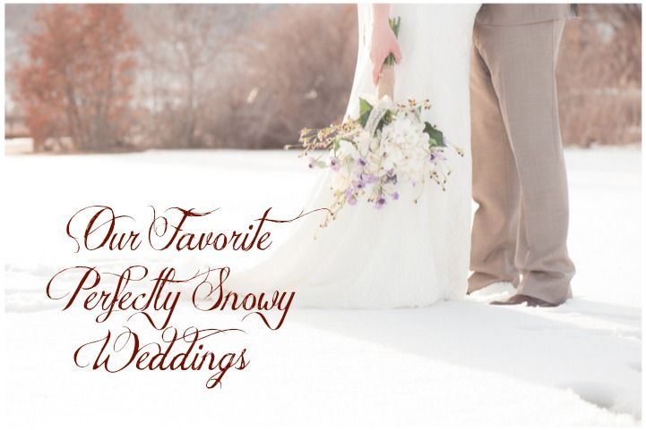 Our Favorite Snowy Weddings