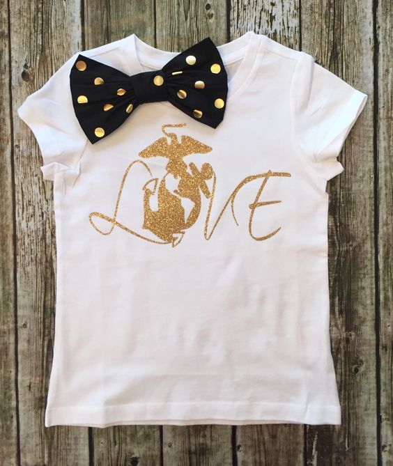 Marine Corps LOVE Shirt Marine Corps Baby Apparel - BellaPiccoli