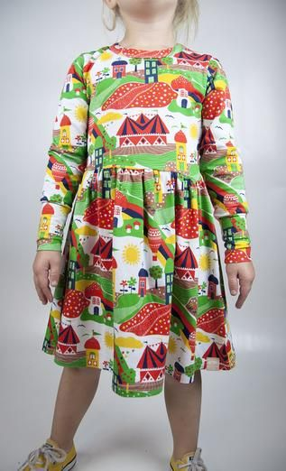 Moromini L/s dress Circus Valley Retro Baby Clothes - Baby Boy clothes - Danish Baby Clothes - Smafolk - Toddler clothing - Baby Clothing - Baby clothes Online
