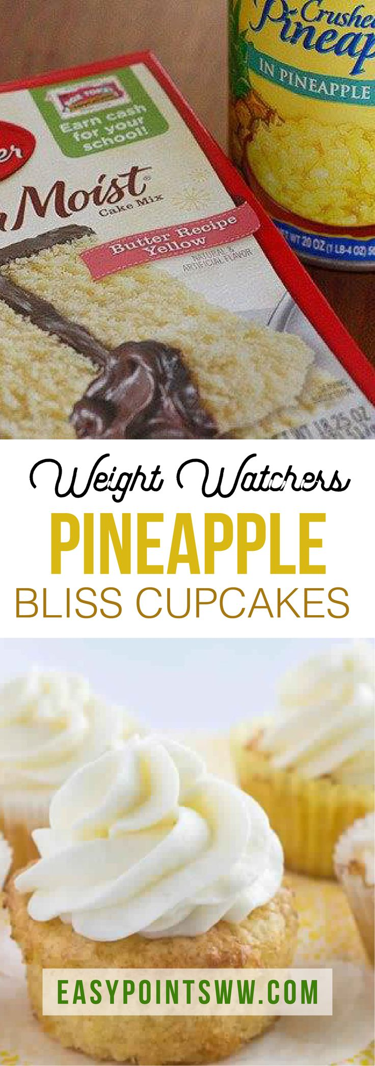 Easy Pineapple Bliss Cupcakes ♥