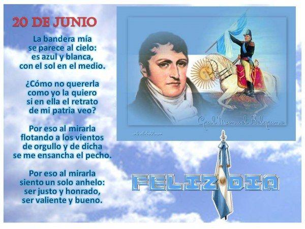 Porqué el 20 de Junio celebramos el Día de la Bandera Argentina http://www.yoespiritual.com/efemerides/porque-el-20-de-junio-celebramos-el-dia-de-la-bandera-argentina.html