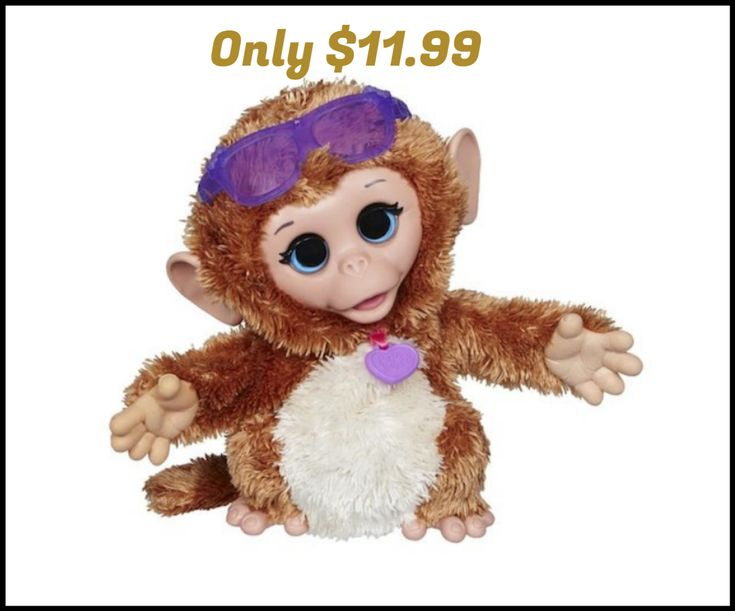 FurReal Friends Baby Cuddles My Giggly Monkey Pet ONLY $11.99 - http://dealmama.com/2017/10/furreal-friends-baby-cuddles-giggly-monkey-pet-11-99/