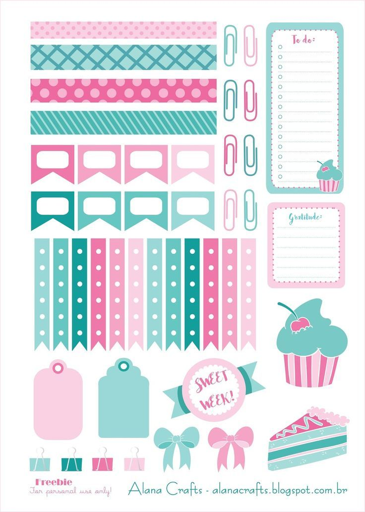 Free Sweet Week Planner Stickers | Alana Crafts