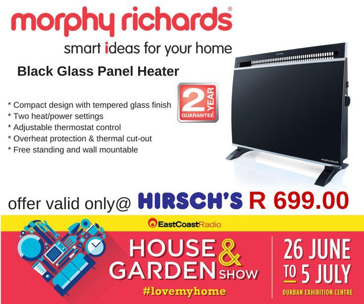 Black Glass Panel Heater