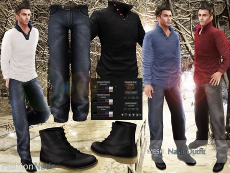 MESH Nasir Outfit FashionNatic / HUD Driven