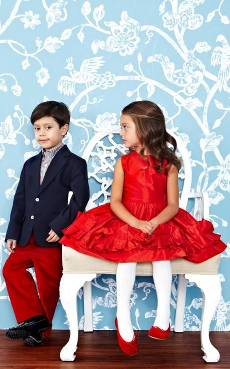 Oscar de la Renta Childrenswear Fall/Winter 2014 Trunkshow Look 2 on Moda Operandi