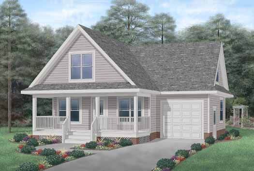 Cottage style house plans 1272 square foot home 2 for Cottage style garage plans