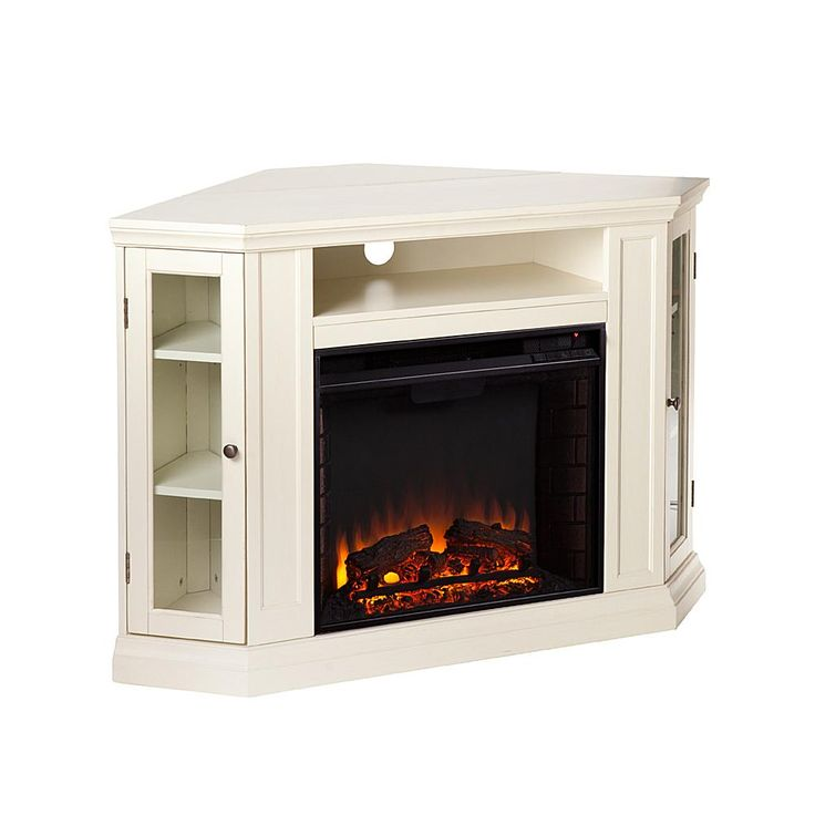 Home Marketplace Wimberly Convertible Media Fireplace - Ivory